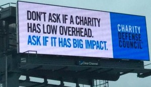 Overhead billboard
